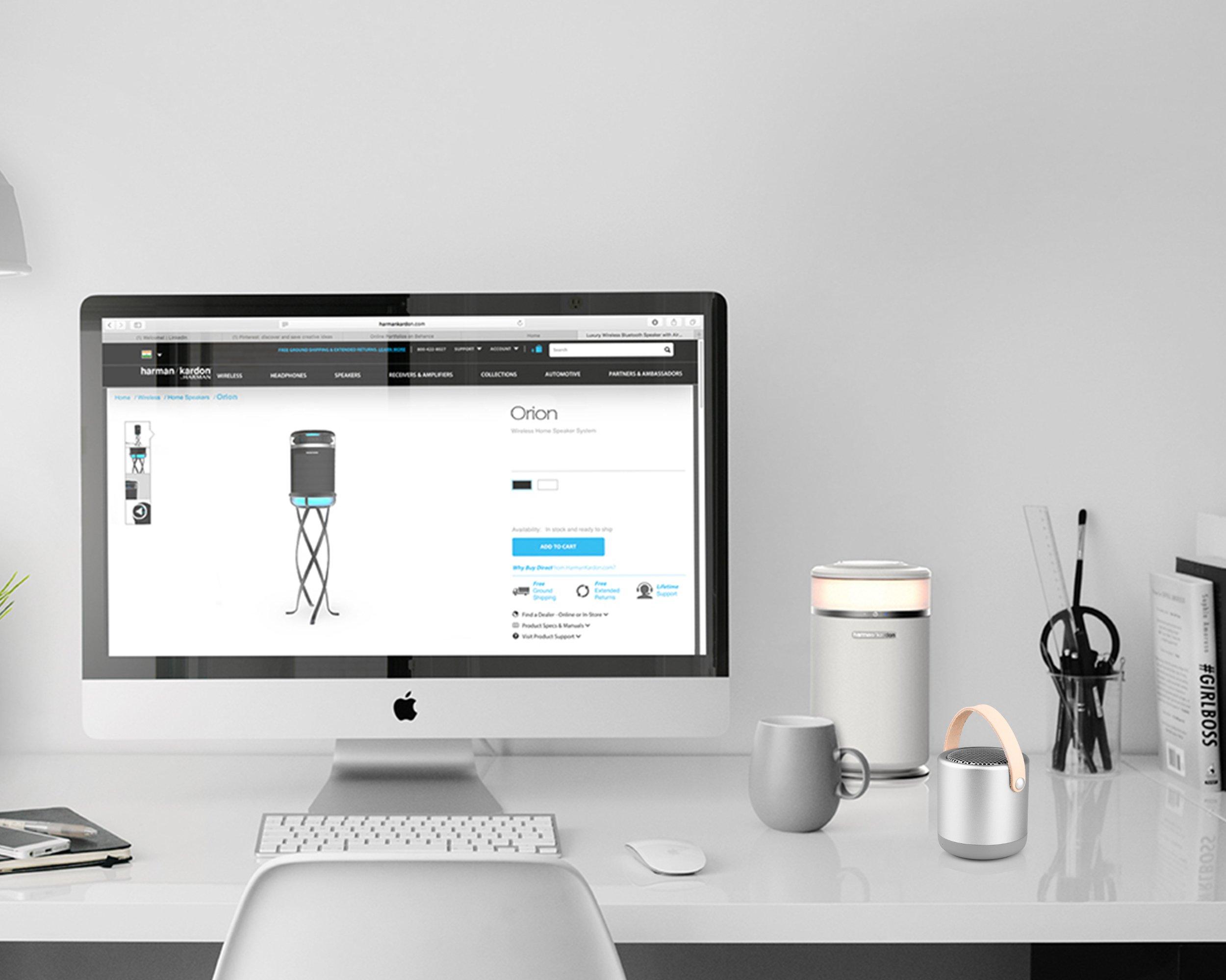 Mini Altoparlante Bluetooth portatile ricaricabile , bluetooth Wireless Speaker con Bassi Potenti per iPhone , iPad, iPod , Samsung , smartphone, tablet PC, laptop , Ultrabook