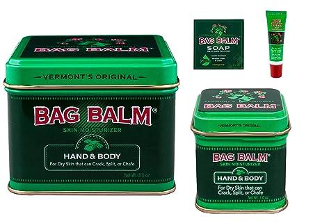 Bag Balm Value Bundle 8 ounces, 1 ounces Tins, On-The-go Tube and Mega Moisturizing Soap