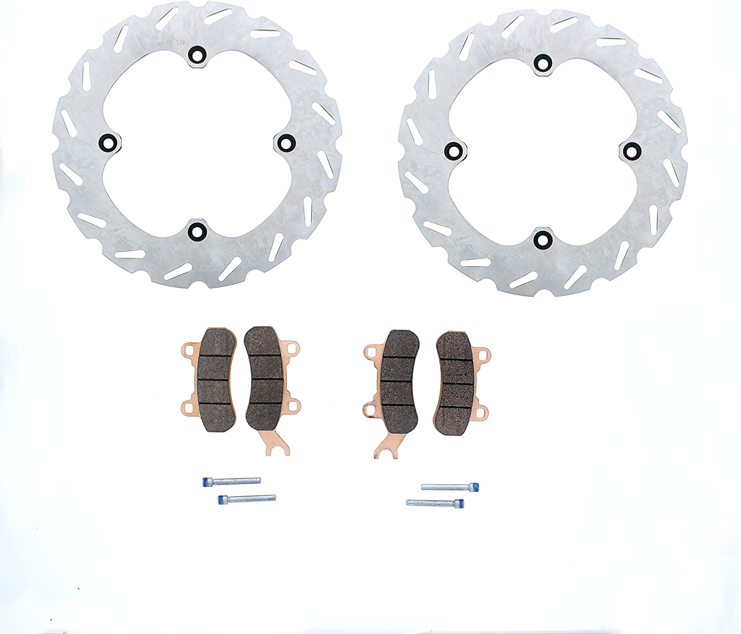 Brake Rotors and Brake Pads fits Can-Am Maverick X3 4x4 2017 2018 Rear by Race-Driven