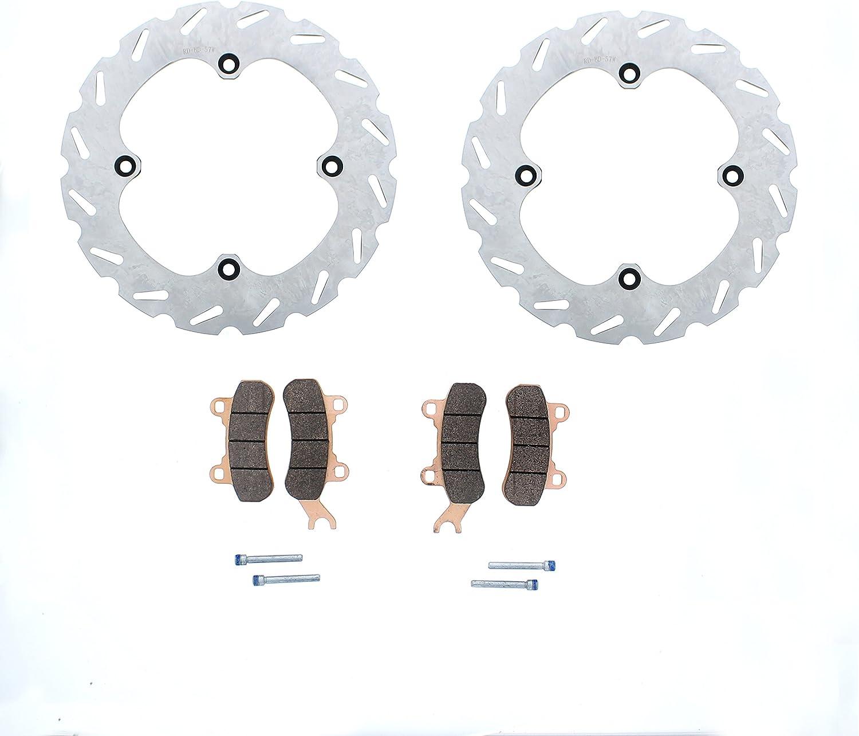2013 2014 fits Can-Am Maverick 1000R Rear Brake Rotors Discs /& Severe Duty Brake Pads