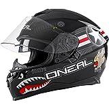 O'Neal Challenger Wingman Street Integral Helm Motorrad Magnetverschluss Fidlock Sonnenblende, 0805-2