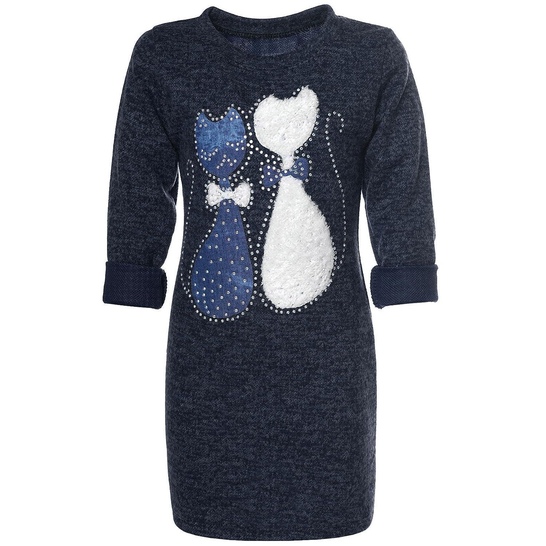 BEZLIT Mädchen Pullover-Kleid Tunika Katzen 21582