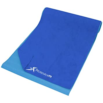 Prosource Fit Arida Yoga Mat Towel Super-Absorbent Microfiber 68-inch x 24-inch for Hot, Bikram Yoga, Pilates, and Working Out
