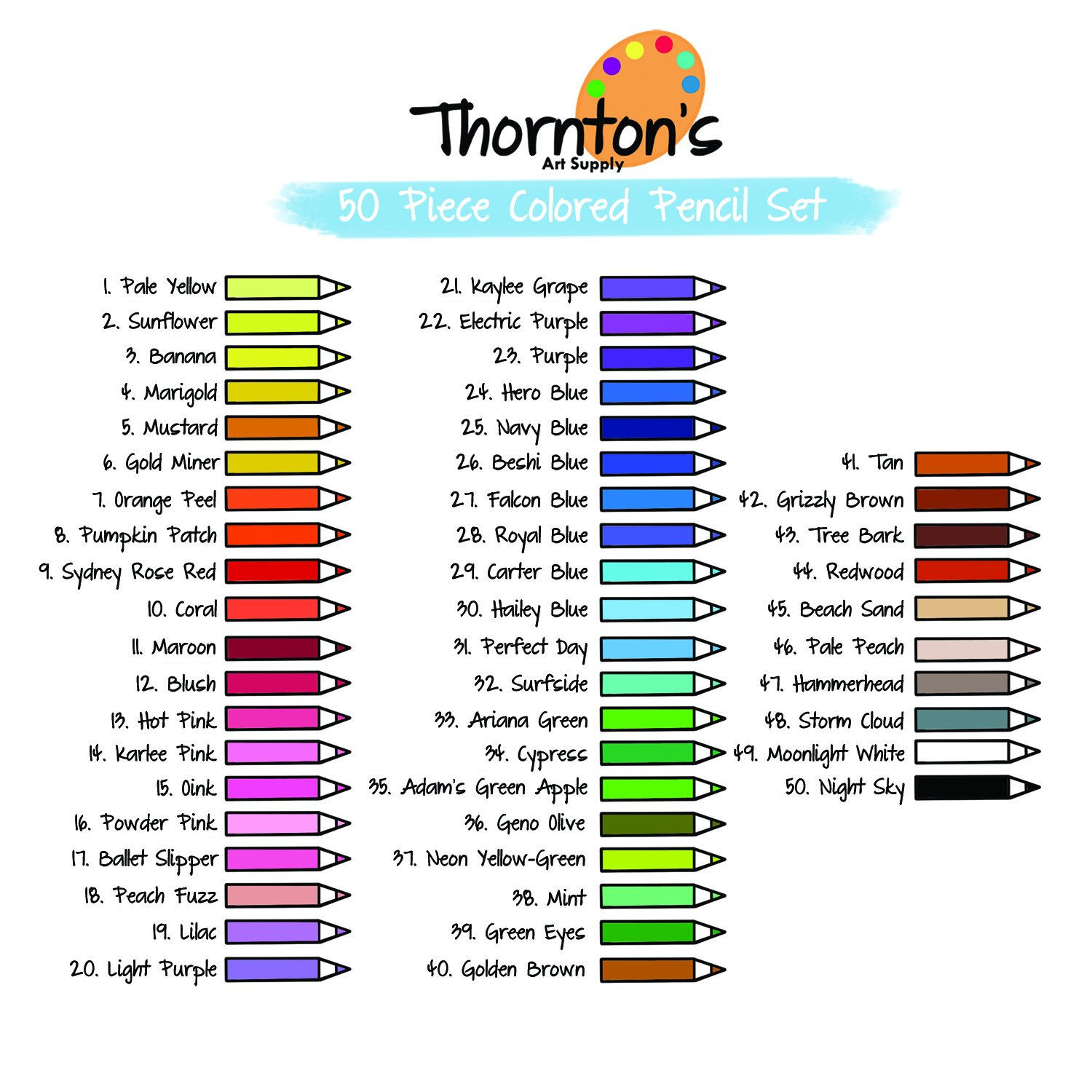 Amazon thorntons art supply soft core 50 piece artist grade amazon thorntons art supply soft core 50 piece artist grade colored pencil adult coloring set assorted colors office products nvjuhfo Choice Image