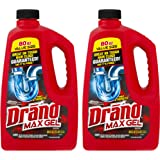 Drano Max Gel, Clog Remover, 80-Ounce, 2-Pack