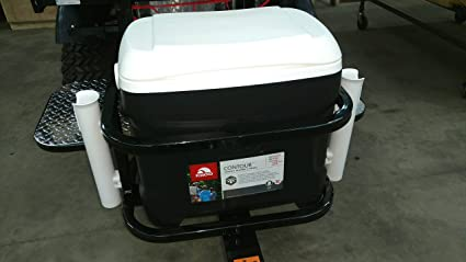 Amazon.com : Toolco Inc. Igloo Cooler Carrier with rod ... on suv trailer hitch rod holder, car rod holder, skiff rod holder, golf cart cup holder, fishing cart rod holder, garage rod holder, vehicle rod holder,