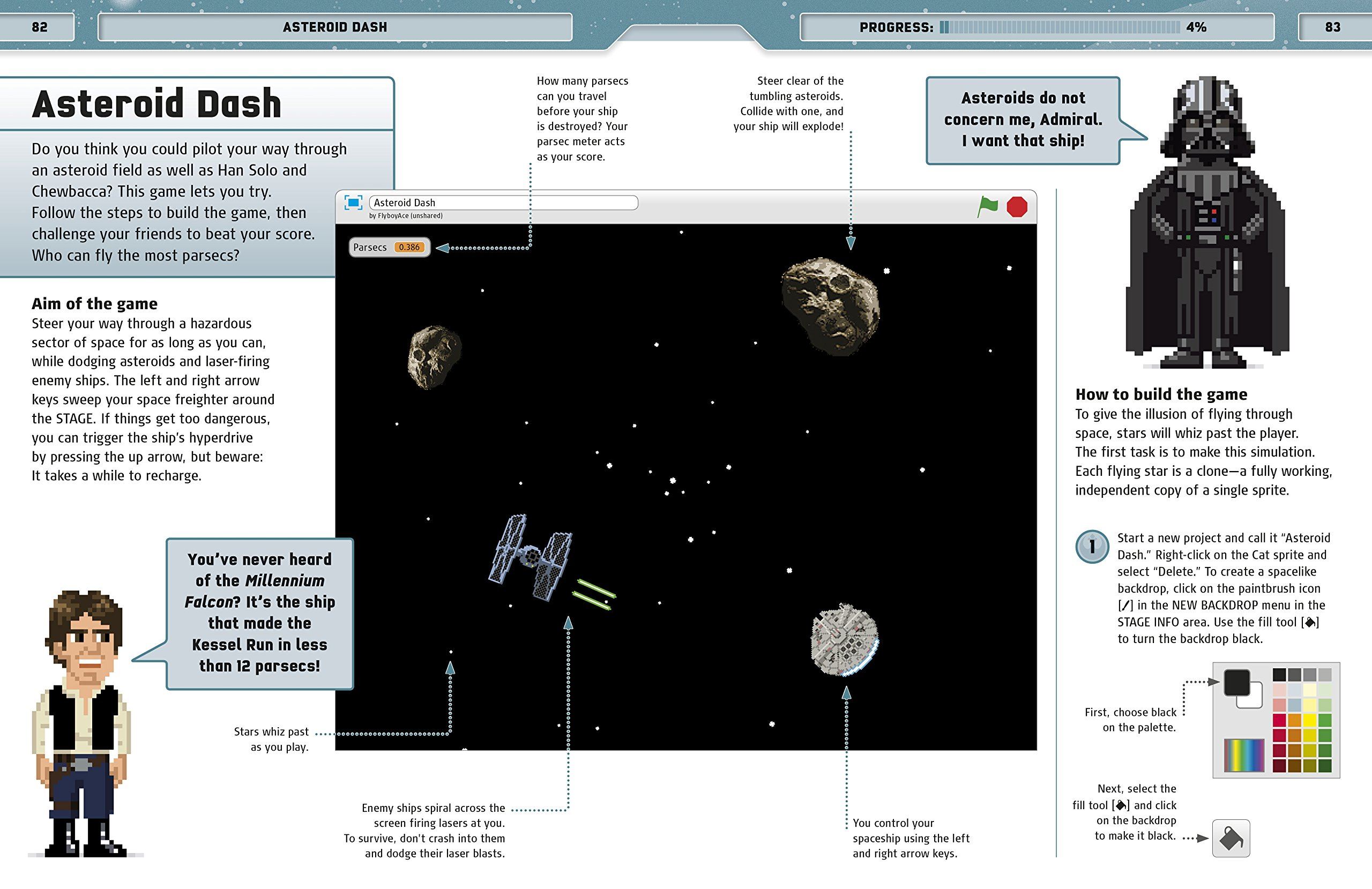 Star Wars Coding Projects: A Step-by-Step Visual Guide to Coding Your Own Animations, Games, Simulations an by DK Children (Image #12)