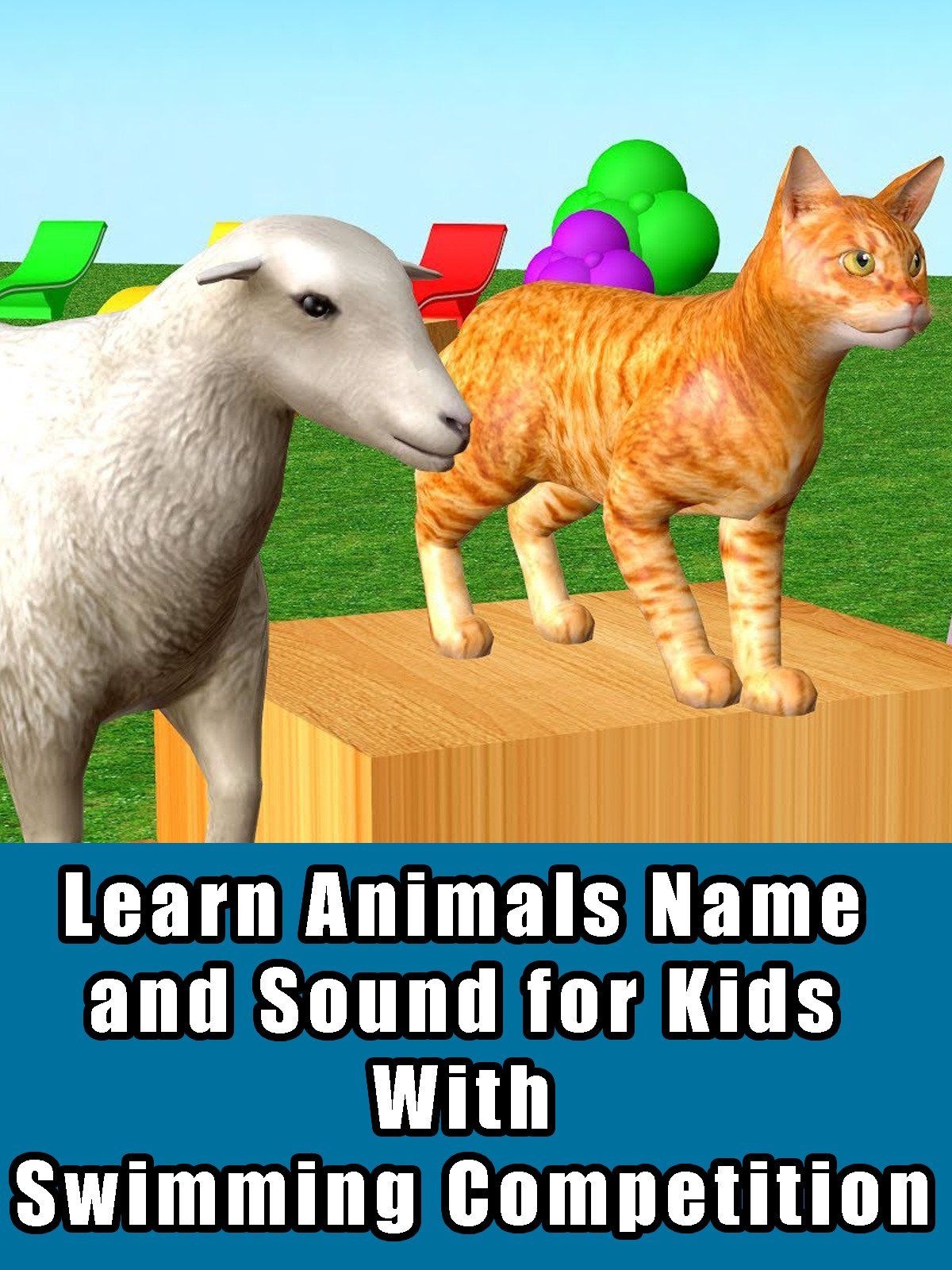 Learn Animals Name and Sound for Kids With Swimming Competition on Amazon Prime Video UK