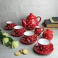 Juego de tetera de cerámica con diseño