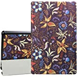 "F ir e HD 10 Tablet Case-Dinines Slim Fit Smart Stand Case Cover for All-New F ir e HD 10 Tablet with Auto Wake/Sleep for F ir e HD 10.1"" Tablet (7th Generation, 2017 Release) (Colorful Flowers)"