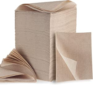 """Kraft Brown Compostbale Napkins -750 Pack - 12"""" x 12"""" Recycled Natural Eco- friendly Napkins, Natural, non bleached Lunch Paper Napkins Everyday"""
