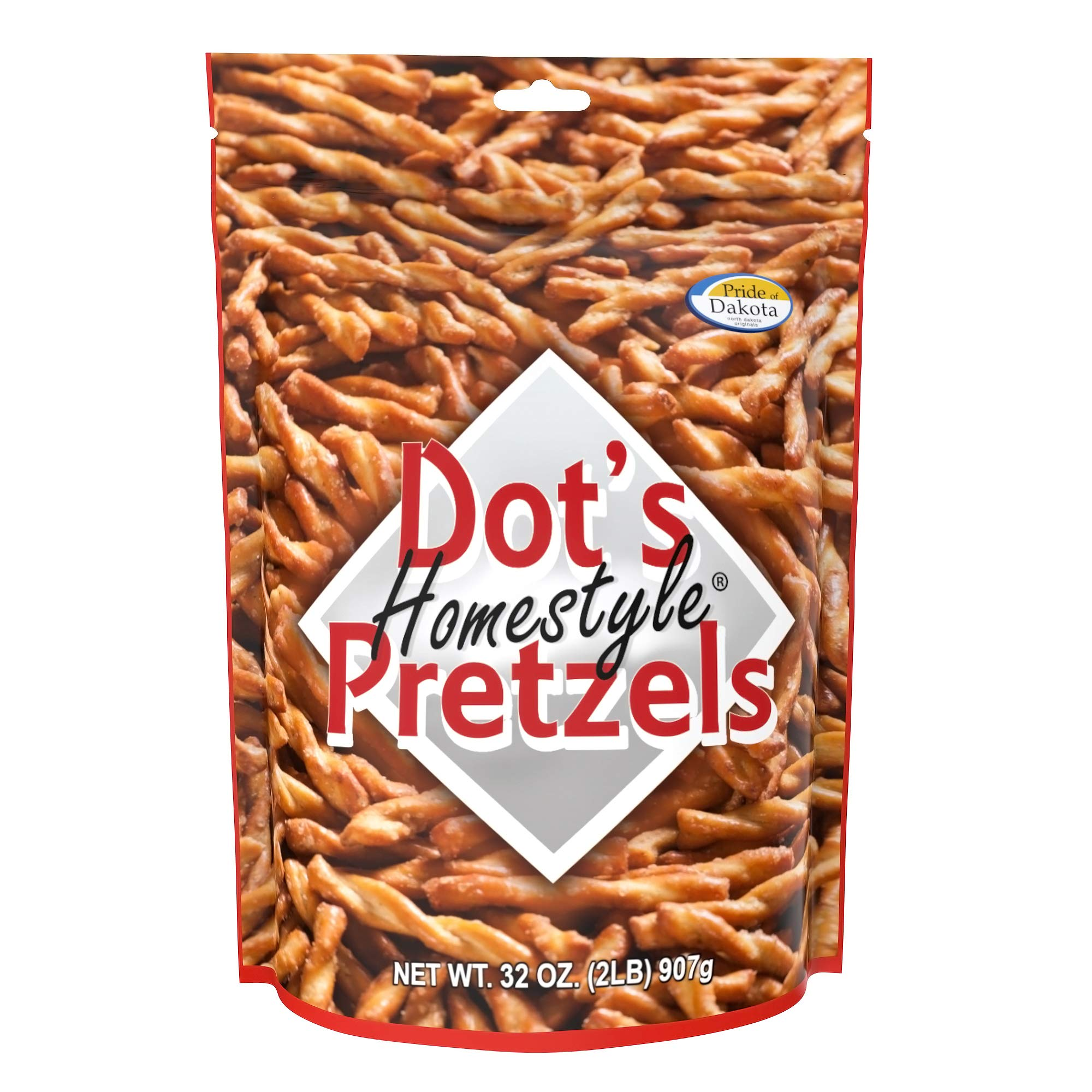 Dot's Homestyle Pretzels 2 lb. Bag (15 Bag Case) 32 oz. Seasoned Pretzel Snack Sticks (Packaging May Vary) by Dot's Homestyle Pretzels