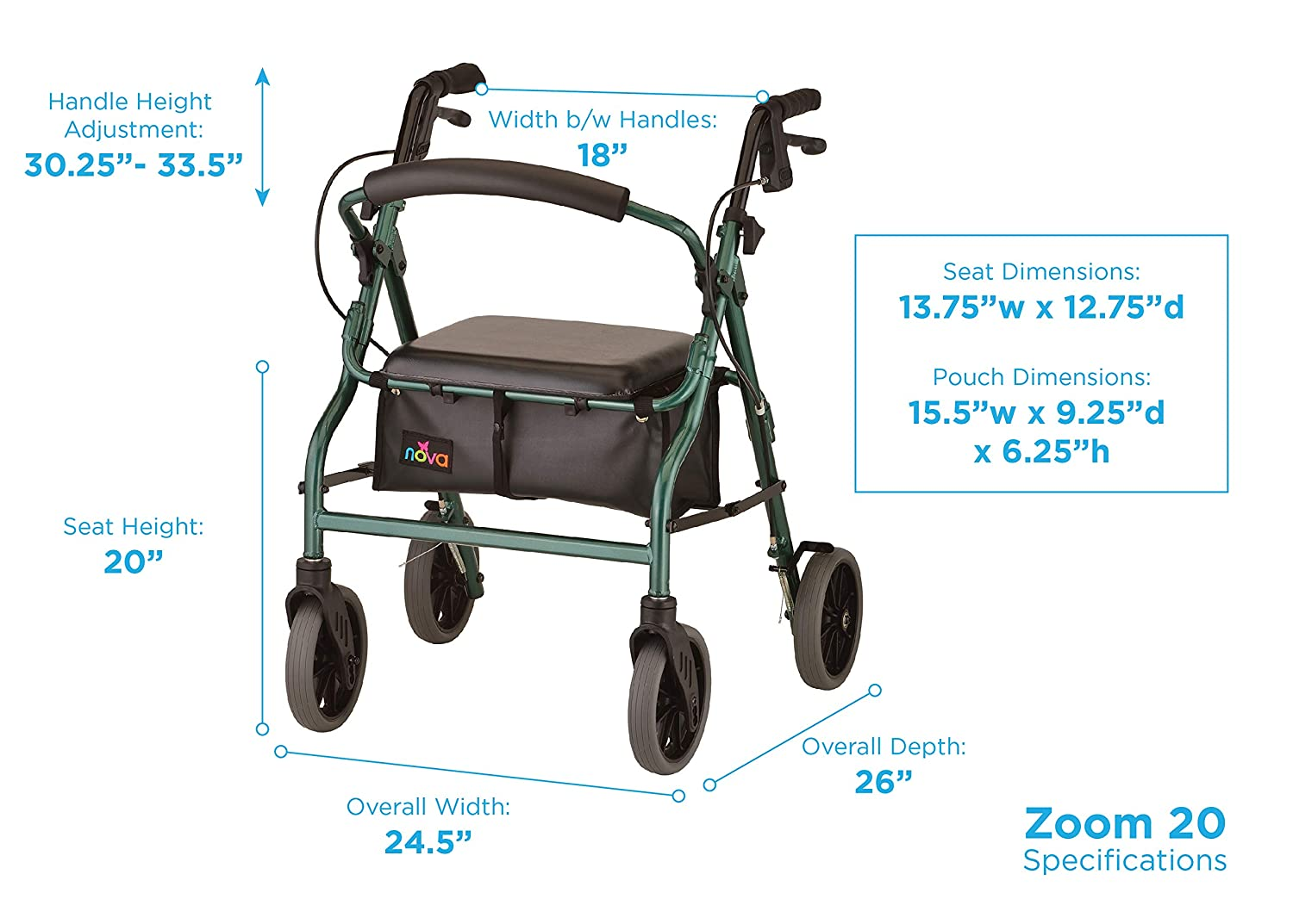 Amazon.com: Productos médicos Zoom Rolling Walker de ...