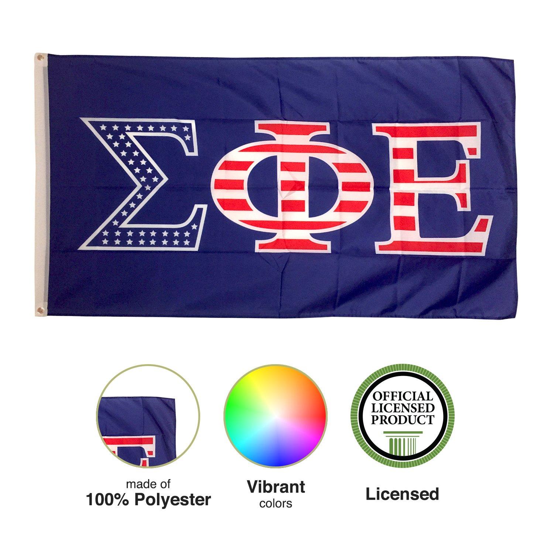 9d292d59a64e Amazon.com   Sigma Phi Epsilon USA Letter Fraternity Flag Greek Letter Use  as a Banner Large 3 x 5 Feet Sign Decor SigEp   Garden   Outdoor