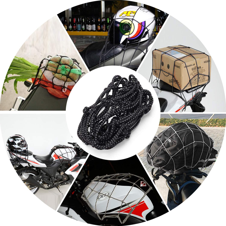 SANTOO Motorrad Gep/äcknetz Fahrrad Reflektieren Netz Helmnetz mit Haken Spannnetz