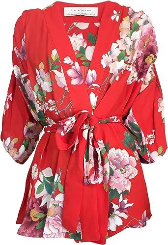 Zara - Camisas - para mujer rojo Small: Amazon.es: Ropa
