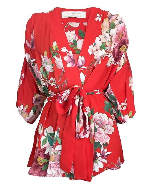 Zara - Camisas - para mujer rojo Small