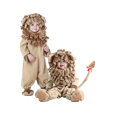 Fun Costumes Little Boy Deluxe Toddler Lion Jumpsuit Costume: Clothing