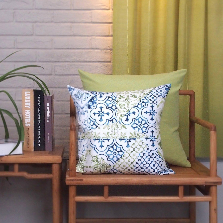 Amazon Phantoscope New Living Blue&Green Decorative Throw