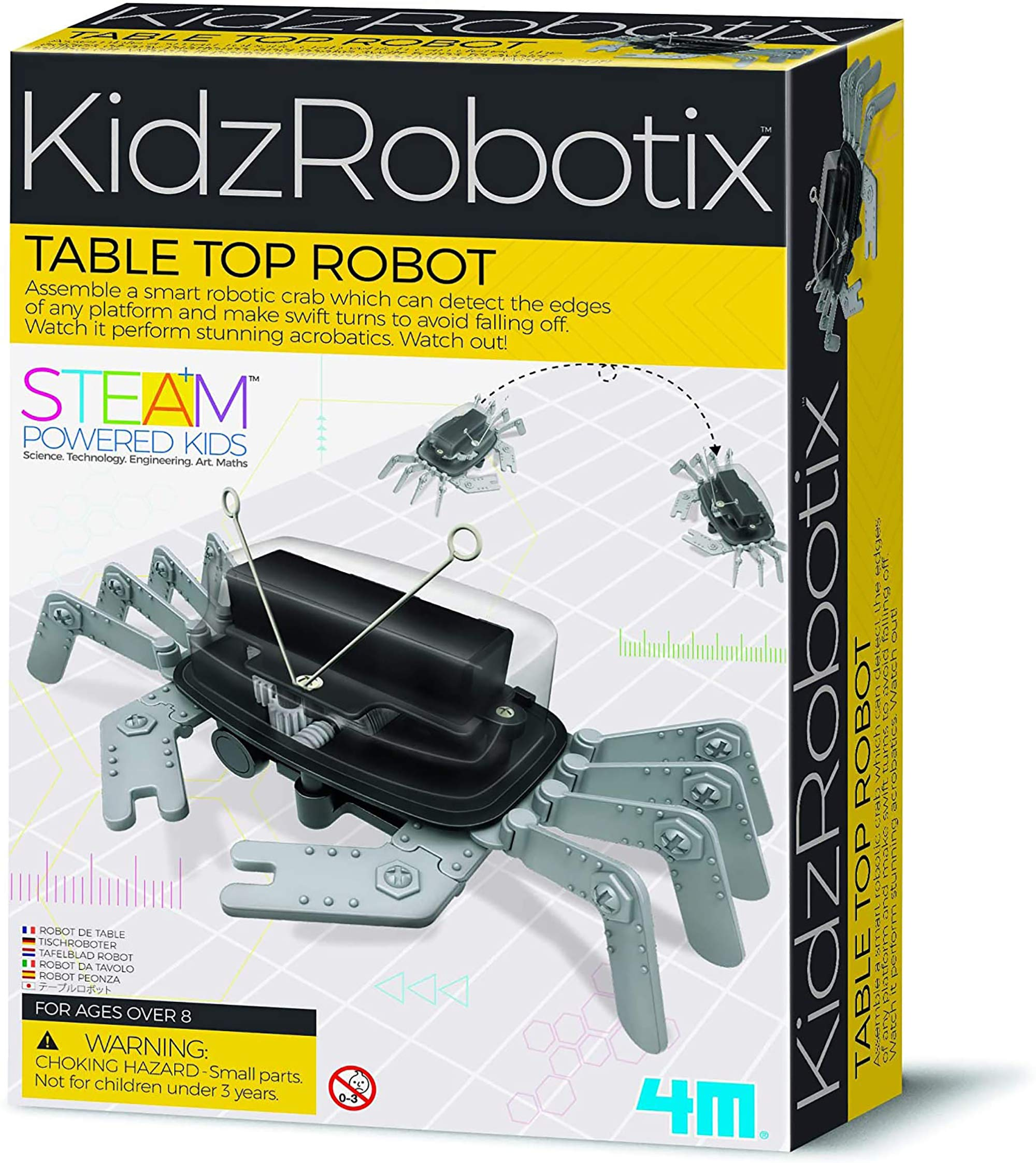 4M 5576 Table Top Robot - DIY Robotics Stem Toys, Engineering Edge Detector Gift for Kids & Teens, Boys & Girls (Packaging May Vary)