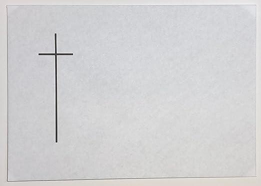 BU13 25 Trauer Briefumschl/äge DIN C6 mit Kreuz und schwarzem Seidenfutter 80g//m/² mit spitzer Klappe nassklebend