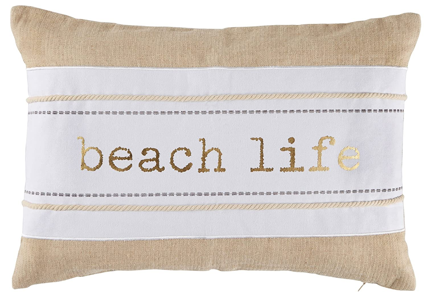 Coastal Home Beach Life Decorative Pillow One Size Beige/white