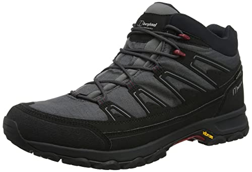 Berghaus Explorer Active M Gore-Tex Walking Boots, Stivali da Escursionismo Alti Uomo, Nero (Black/Grey Ba4), 45 EU