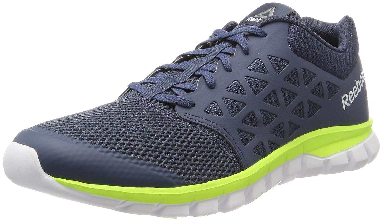 Reebok Sublite XT Cushion 2.0 MT, Zapatillas de Running para Hombre 44.5 EU|Varios Colores (Smoky Indigo / Electric Flash / White / Pewter)