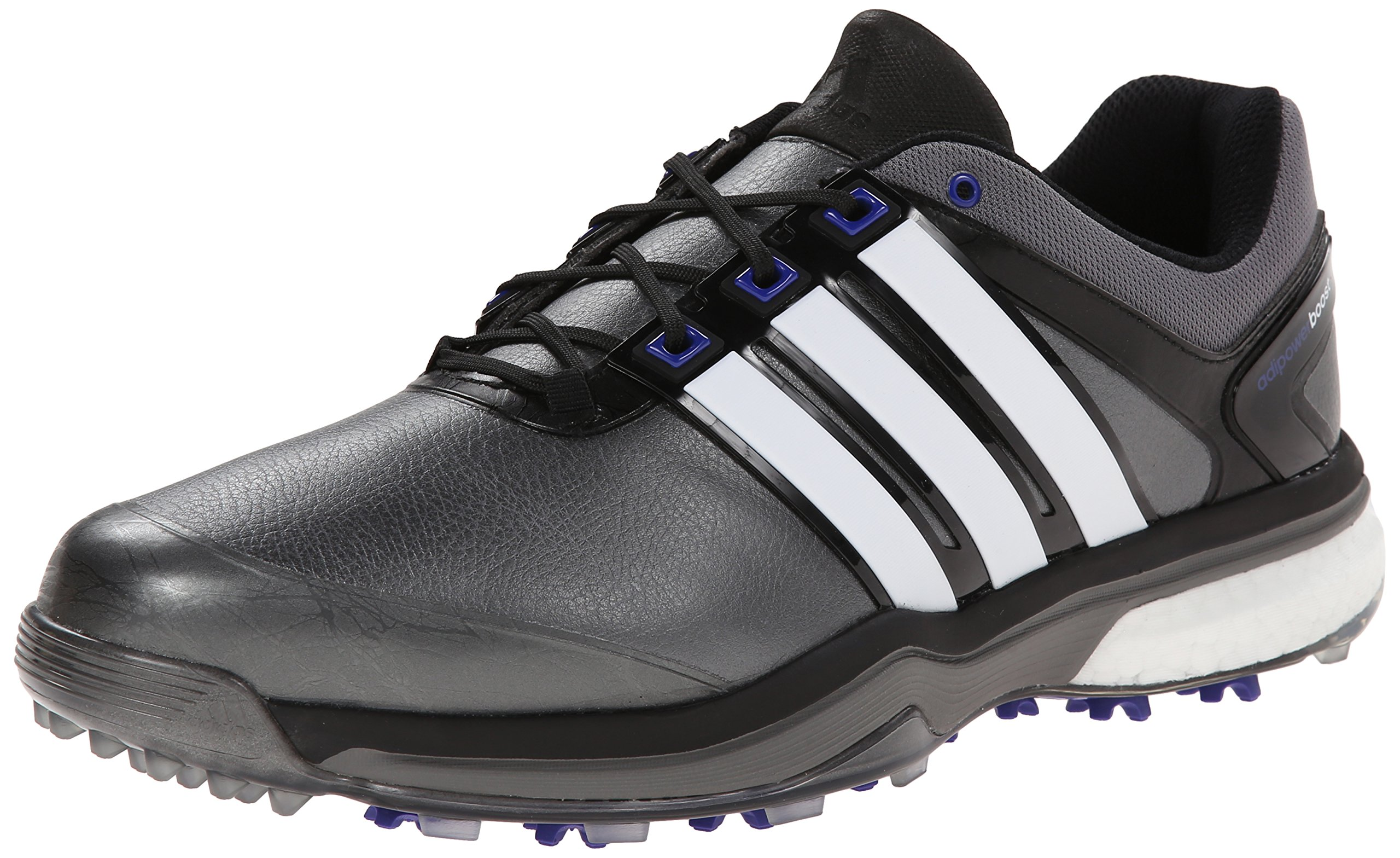 adidas Men's Adipower Boost Golf Shoe, Dark Silver Metallic/Running White/Night Flash, 7.5 E US