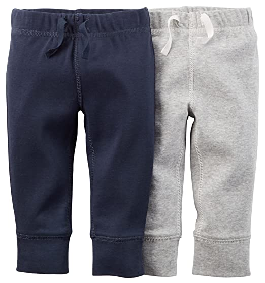 2aa80db5b Amazon.com  Carters Baby Boys  Solid Pants - 2 Pack (9 Months)  Clothing