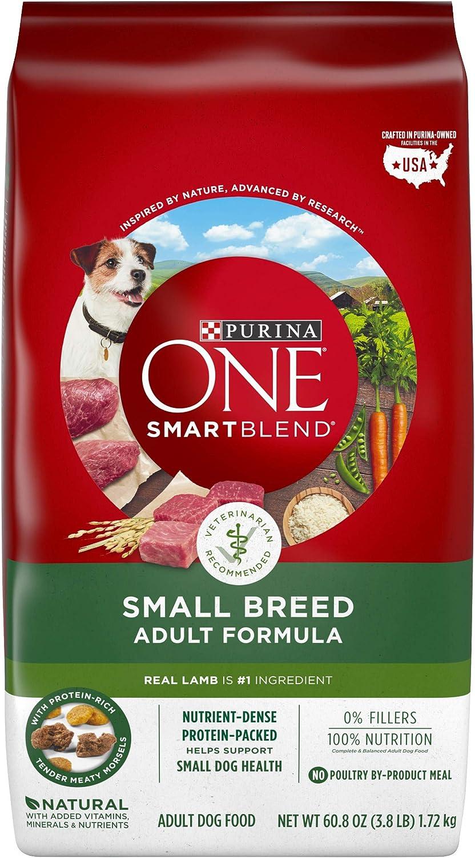 Purina ONE Natural Small Breed Dry Dog Food, SmartBlend Lamb & Rice Formula - 3.8 lb. Bag