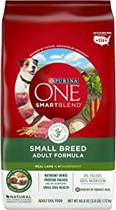Purina ONE Natural Small Breed Dry Dog Food, SmartBlend Lamb & Rice Formula - 3.8 lb. Bag