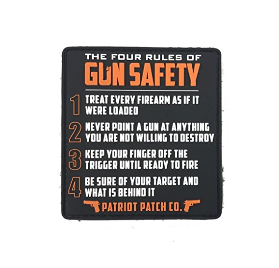 amazon com patriot patch co 4 rules of gun safety morale patch