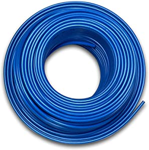 Food Grade 1/4 Inch Plastic Tubing for RO Water Filter System, Aquariums, Refrigerators, ECT; BPA free; Made from FDA compliant materials and meets NSF Standards and Regulations (100 Feet, Blue)