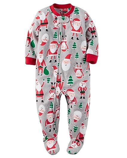008bd34436e3 Amazon.com  Carter s Newborn First Christmas Footed Pajamas W Santa ...