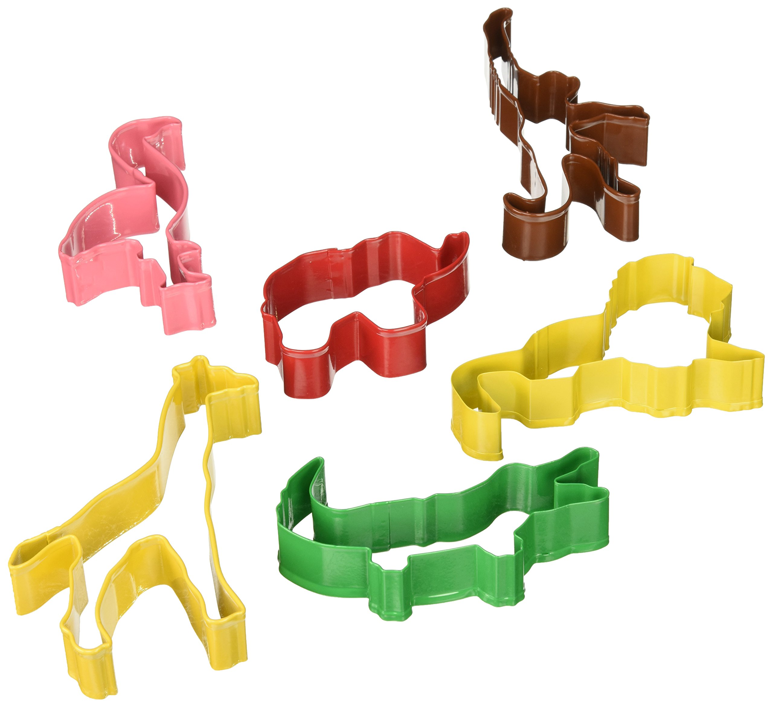 R&M International 1824 Safari Animal Cookie Cutters, Lion, Elephant, Monkey, Alligator, Flamingo, Giraffe, 6-Piece Set