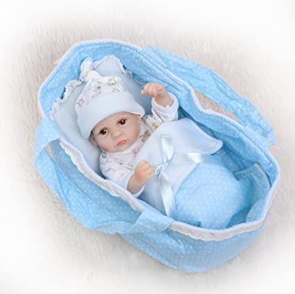 "10/"" Full Body Vinyl Silicone Baby Dolls Handmade Lifelike Newborn Boy Doll Gift"