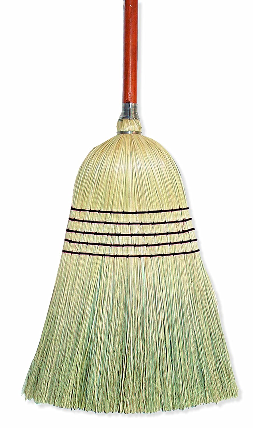 Wilen E502036, Warehouse Corn Blend Broom with 1-1/8 Handle, 32# Size, 56 Length (Case of 6) 56 Length (Case of 6)