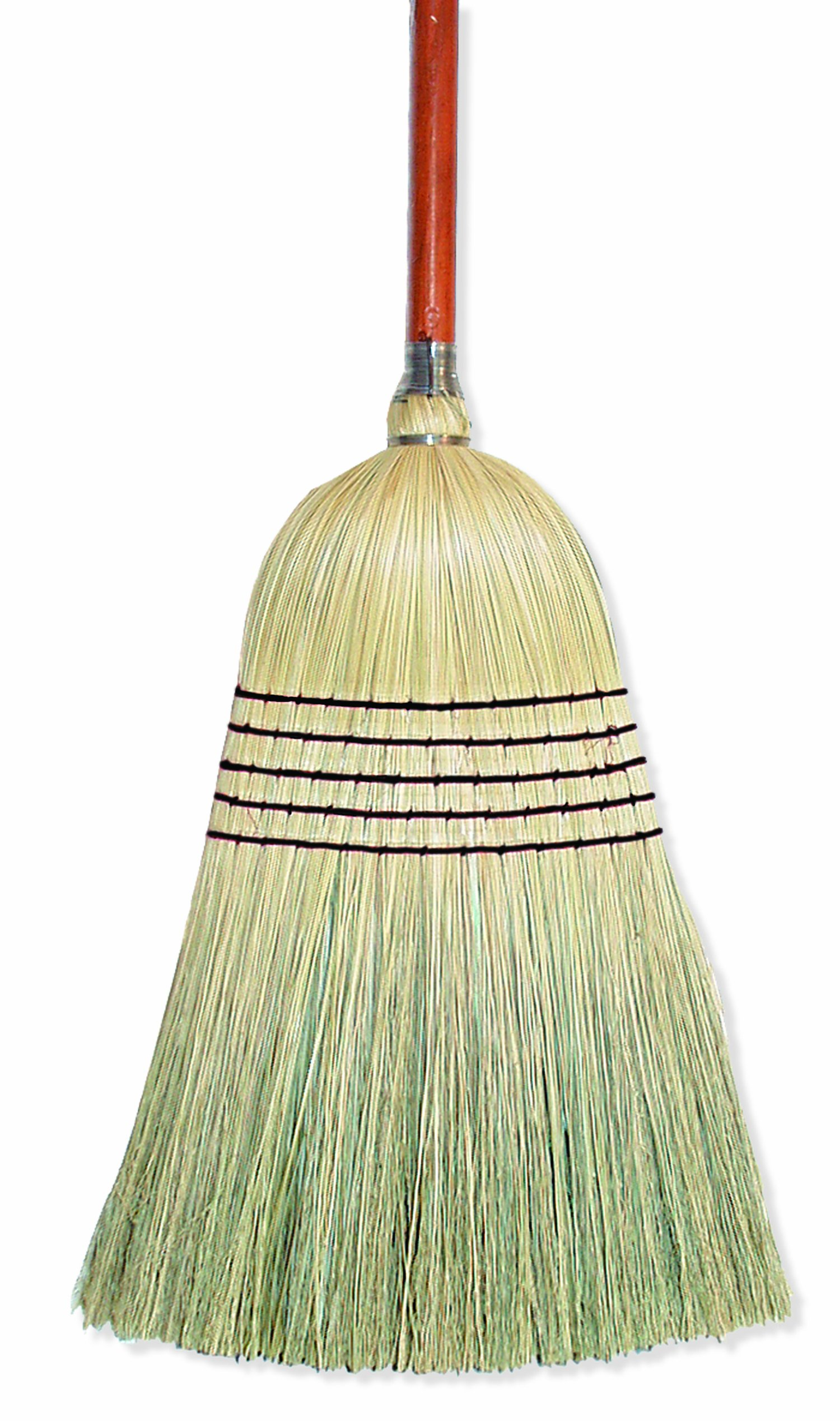 Wilen E502036, Warehouse Corn Blend Broom with 1-1/8'' Handle, 32# Size, 56'' Length (Case of 6)