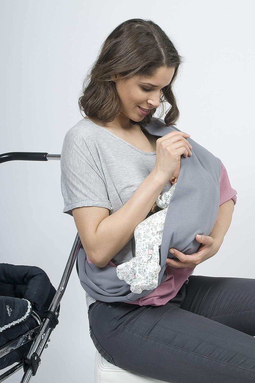 Mania Stillschal Lucky das Original diskretes Stillen unterwegs Premium Organic-Cotton grau mit Bl/üten Gr/ö/ße: S//M Ger/äusch-Schutz f/ür Baby Stilleinlagen-Einschub