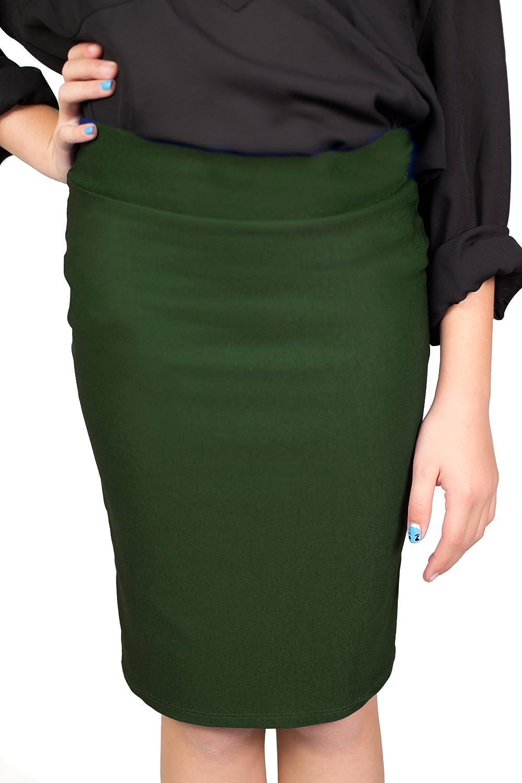 CALDORE USA Girls 7-16 Pencil Skirt Stretchable Knee Length
