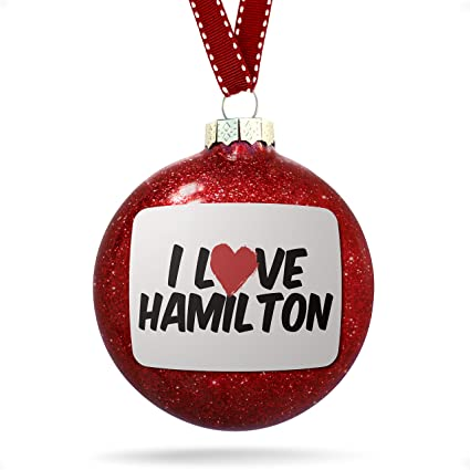 Hamilton Christmas Ornament.Amazon Com Neonblond Christmas Decoration I Love Hamilton