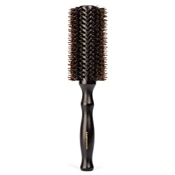 Amazon Com Boar Bristle Round Hair Brush 2 2 Inch Diameter Blow Dryer Curling Roll Styling Hairbrush With Natural Wooden Handle For Women Men Used While Blow Drying