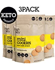 HighKey Snacks Keto Mini Cookies – Snickerdoodle, Pack of 3, 2.25oz Bags – Keto Friendly, Gluten Free, Low Carb, Healthy Snack - Sweet, Diet Friendly Dessert – Ketogenic Food with Natural Ingredients