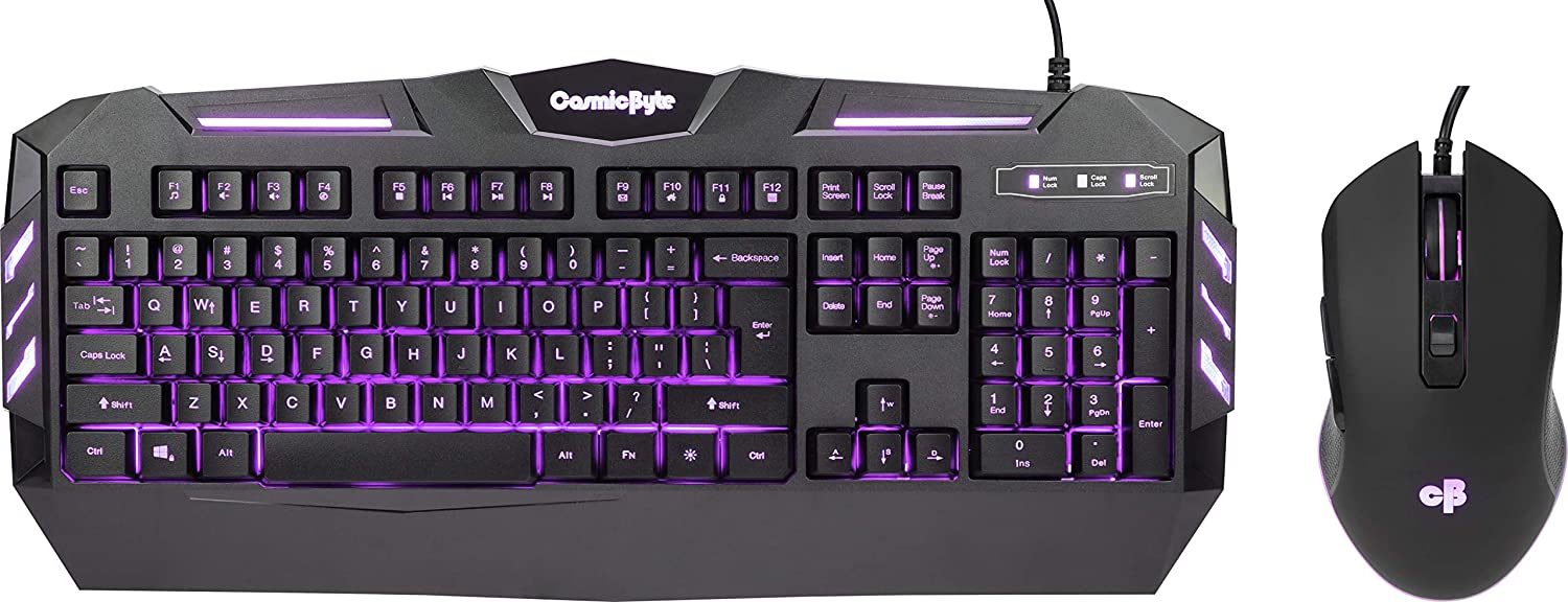 cosmic Byte Dark Matter Gaming Keyboard and Mouse Combo
