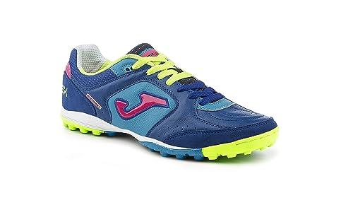 Zapatillas de fútbol Sala Joma Top Flex 605 BLU-Navy Turf: Amazon.es: Zapatos y complementos