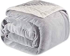 """JinJeeo Sherpa Fleece Blanket Lightweight Super Soft Cozy Ultra Luxurious Plush Bed Blankets Washable Warm Furry Throw Blanket for Couch Sofa Chair Home Decor 50"""" x 60"""""""