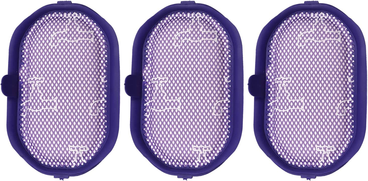 Washable Pre-Filter For Dyson Vacuum Cleaners DC30, DC31, DC34, DC35, DC44 Digital Slim, DC56; Replaces Dyson Pre-Filter Part # 917066-02,3 pack
