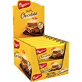 Bauducco Mini Crispy Wafer Cookies, Single Serve, Chocolate, 1.41 oz., Box of 12