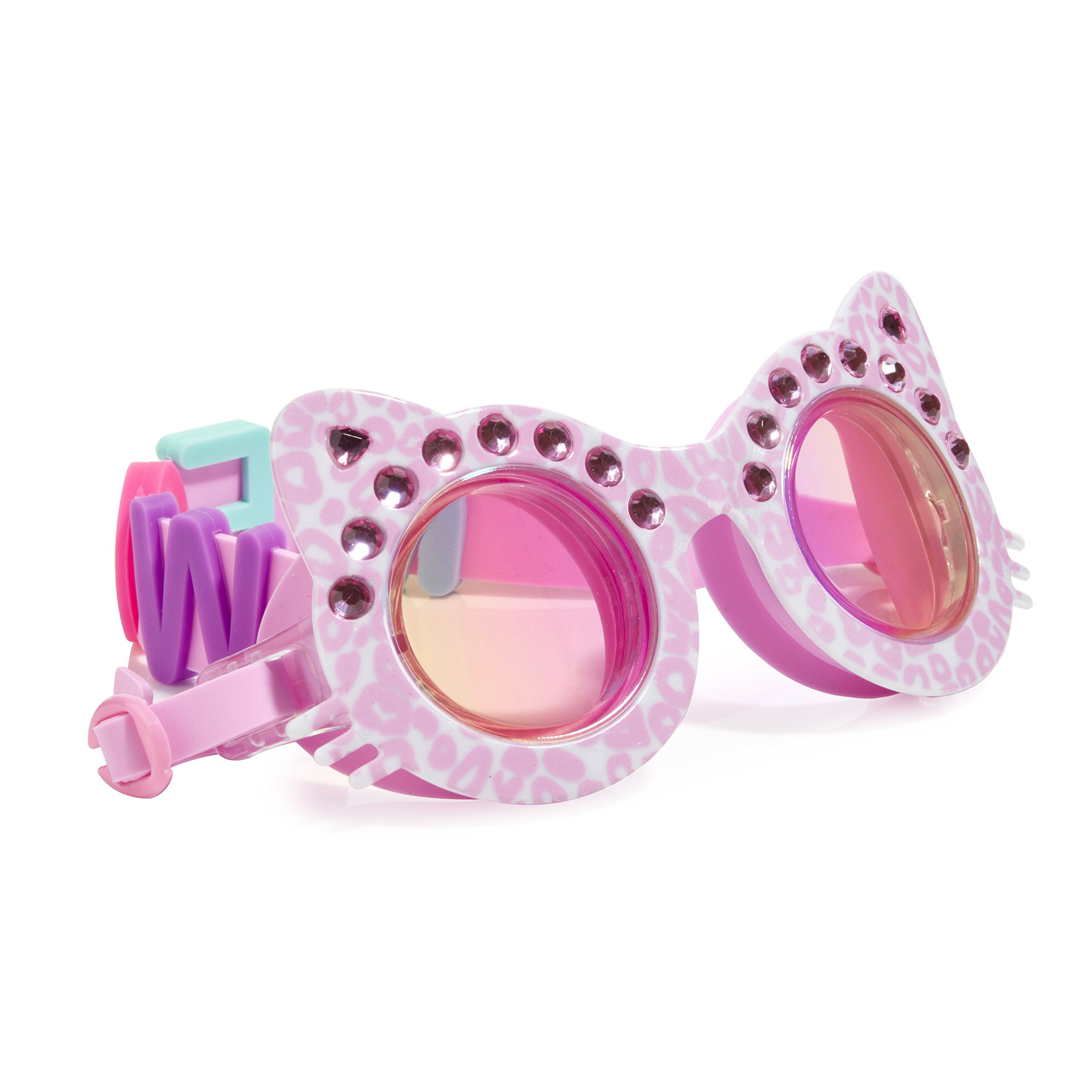 Cat Shaped Swimming Goggles For Kids by Bling2O - Anti Fog, No Leak, Non Slip and UV Protection - PurrFect Pink Colored Fun Water Accessory Includes Hard Case